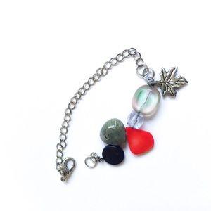 Leaf + Stone Handmade Bracelet